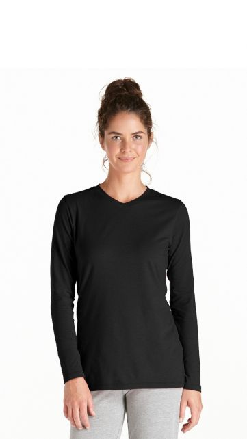 Coolibar---Langarm-UV-Shirt-Damen---schwarz