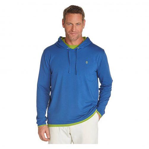Coolibar---UV-Kapuzenpullover-Herren---blau