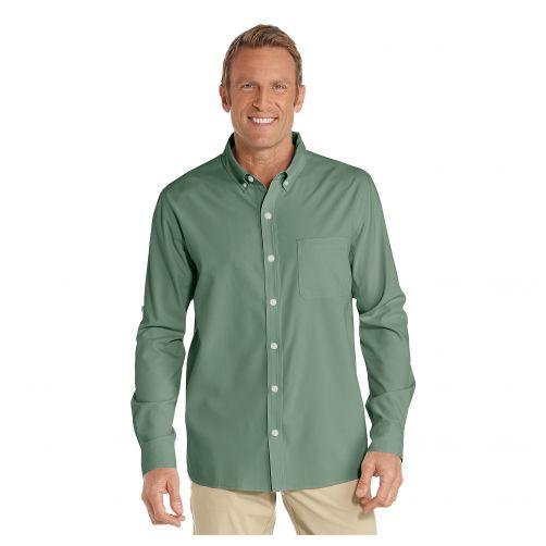 Coolibar---UV-Anzugshemd-für-Herren---Olivgrün