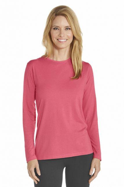 Coolibar---T-Shirt-langer-Arm---Koralle
