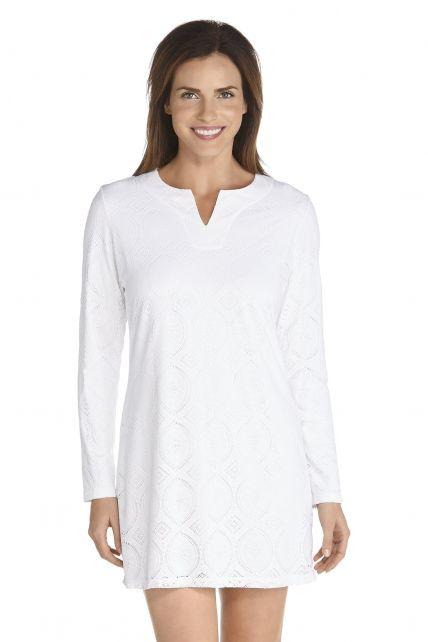 Coolibar---UV-Strandkleid---weiß