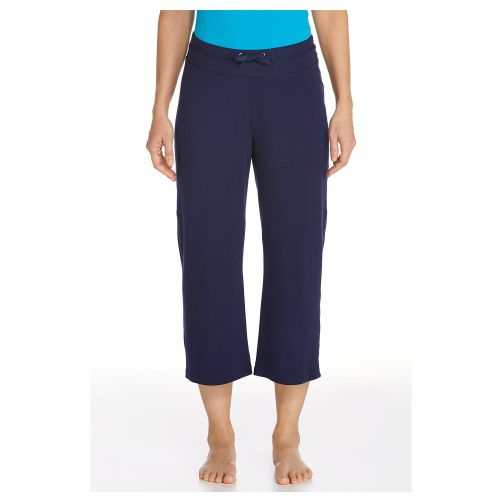 Coolibar---UV-Schutz-Caprihose---dunkelblau