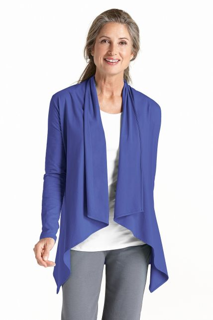 Coolibar---UV-Damenjacke---Empire-blau