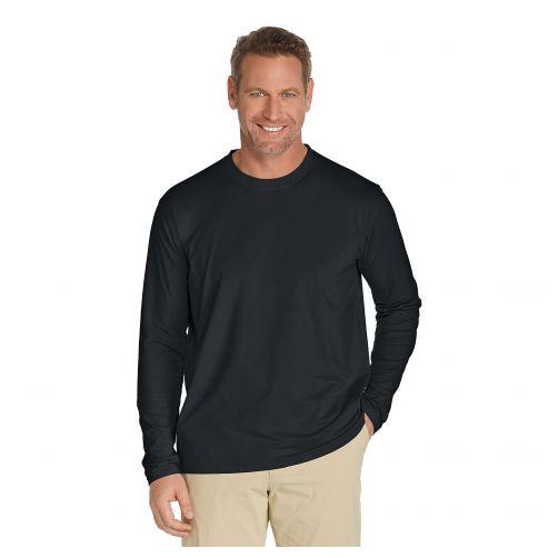 Coolibar---UV-Langarmshirt-für-Herren---Schwarz