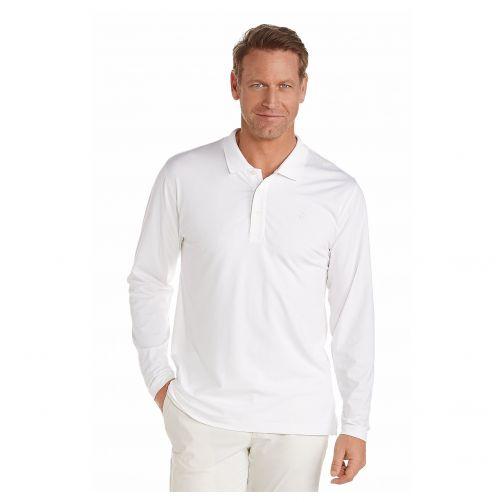 Coolibar---UV-Poloshirt-für-Herren---Langärmlig---Coppitt---Weiß