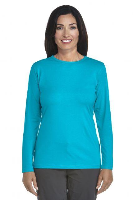 Coolibar---Langarm-UV-Shirt-Damen---azure