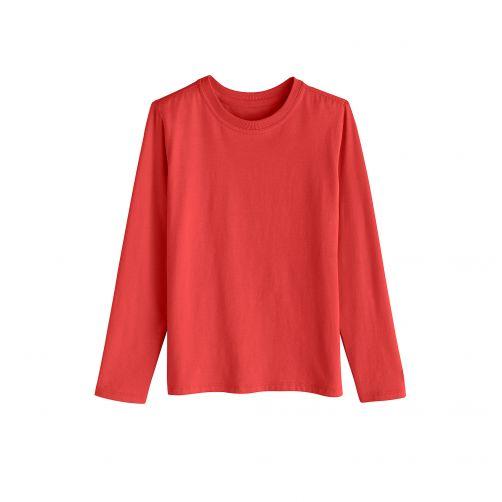 Coolibar---UV-Langarmshirt-für-Kinder---Rot