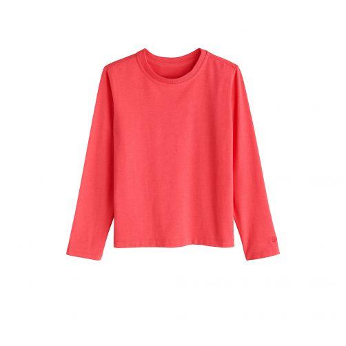 Coolibar---UV-Langarmshirt-für-Kinder---Koralle