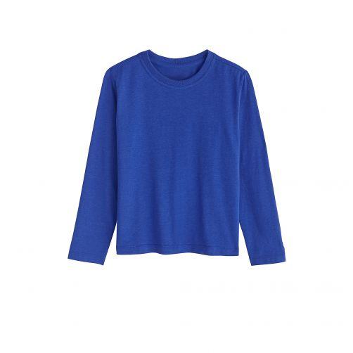 Coolibar---UV-Langarmshirt-für-Kinder--Marineblau