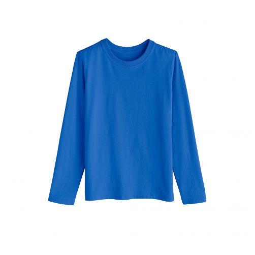 Coolibar---UV-Langarmshirt-für-Kinder--Meeresblau