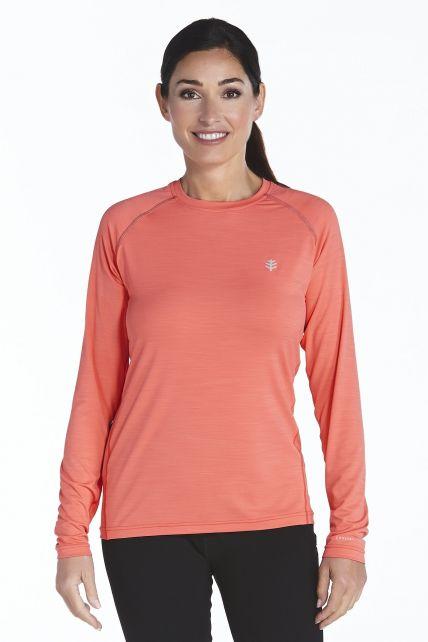 Coolibar---UV-Sport--Langarmshirt-Damen---rot