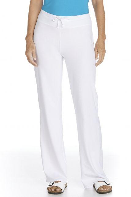 Coolibar---UV-Strandhose-Damen---weiss