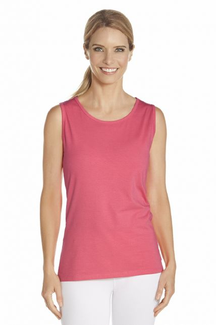 Coolibar---UV-Basic-Top-Damen---Koralle