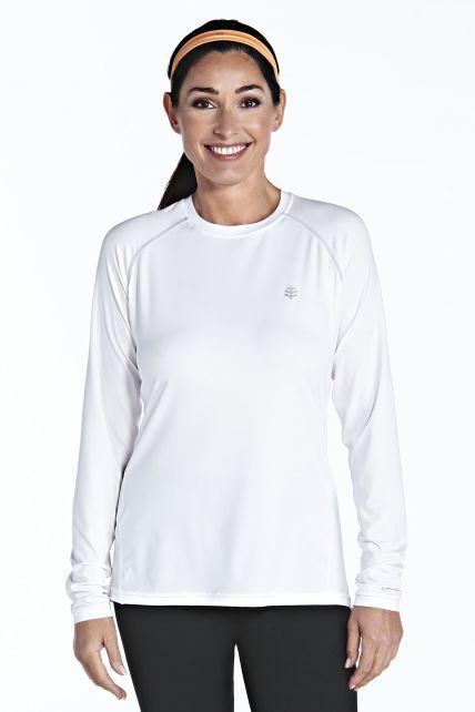 Coolibar---UV-Sport--Langarmshirt-Damen---weiss