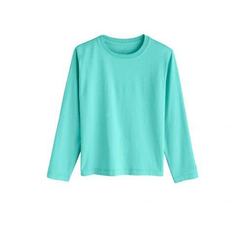 Coolibar---UV-Langarmshirt-für-Kinder---Türkis