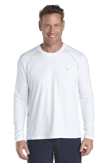 Coolibar---UV-Langarm-SporT-Shirt-Herren---weiss