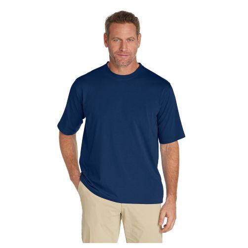 Coolibar---UV-Shirt-für-Herren---Marineblau
