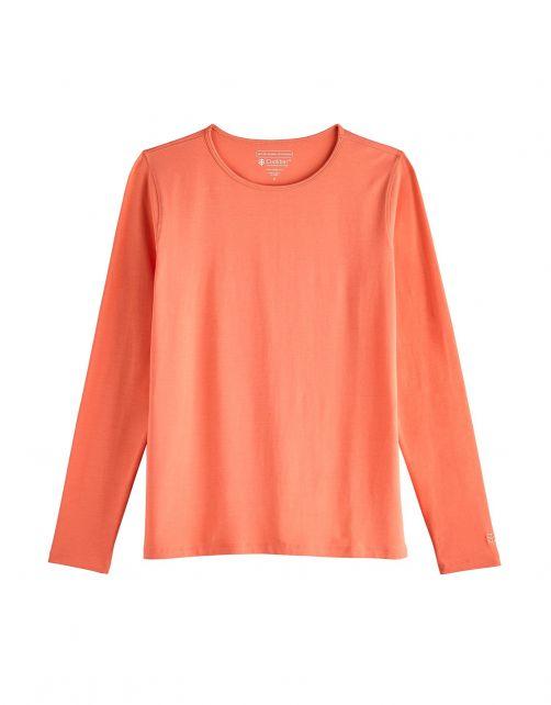 Coolibar---UV-Shirt-für-Damen---Langärmlig---Morada---Soft-Coral