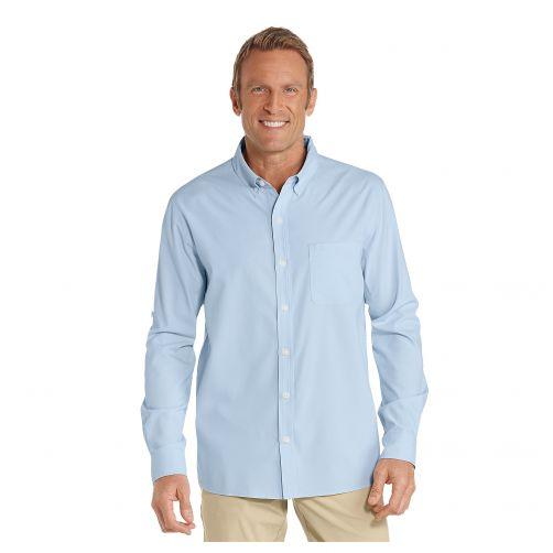 Coolibar---UV-Anzugshemd-für-Herren---Hellblau
