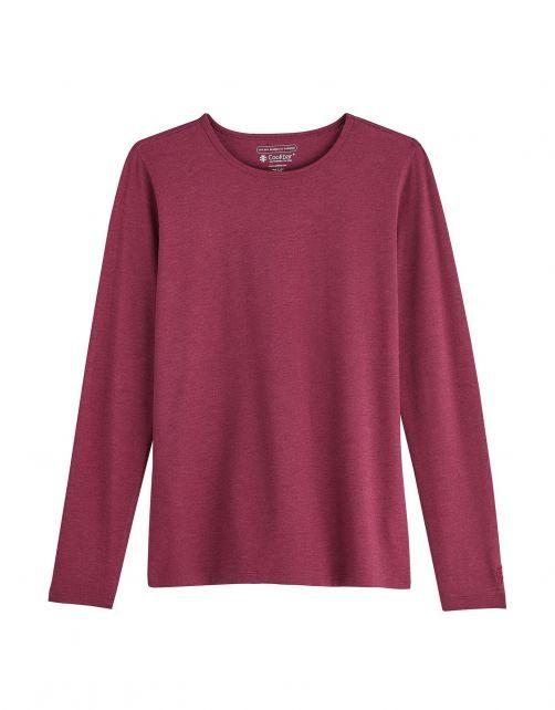 Coolibar---UV-Shirt-für-Damen---Langärmlig---Morada---Cranberry