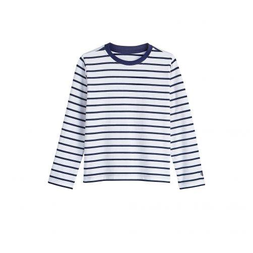 Coolibar---UV-Shirt-für-Kinder---Langarmshirt---Coco-Plum---Weiß/Navy