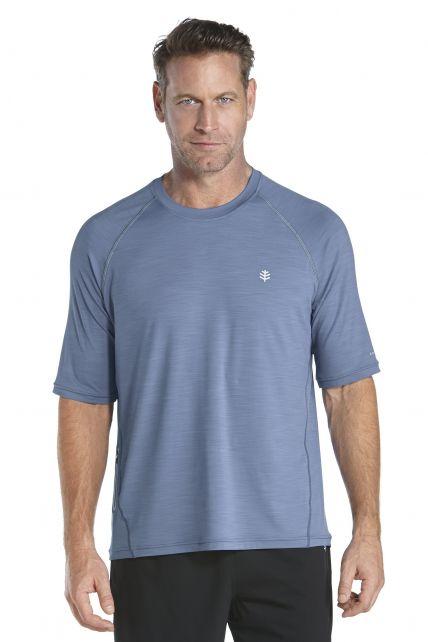 Coolibar---UV-Schutz-T-Shirt-Herren---blau