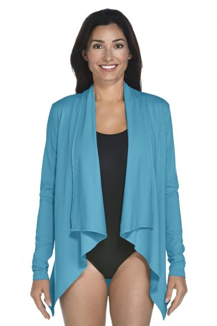 Coolibar---UV-Damenjacke---azure