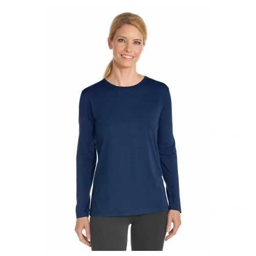 Coolibar--UV-Langarmshirt---Marineblau
