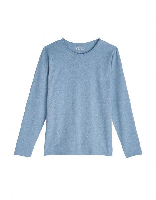 Coolibar---UV-Shirt-für-Damen---Langärmlig---Morada---Hellblau