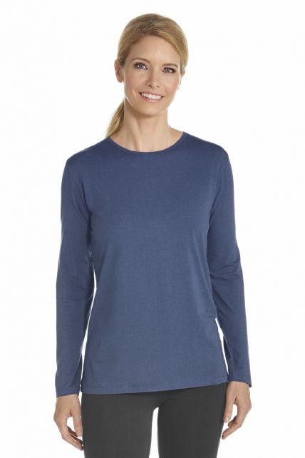 Coolibar---T-Shirt-langer-Arm---Dunkelblau