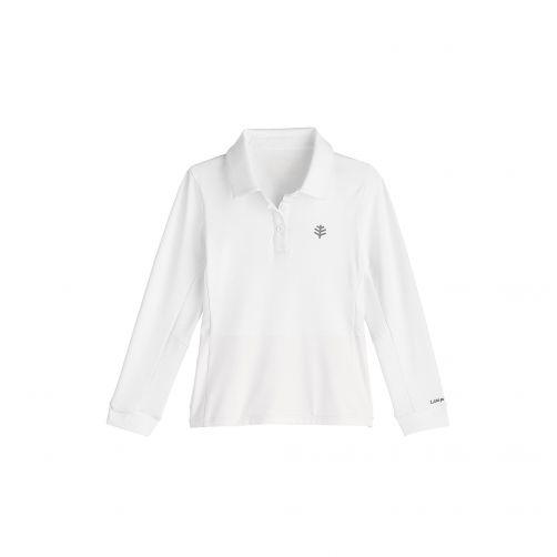 Coolibar---UV-Polo-für-Mädchen---Weiß