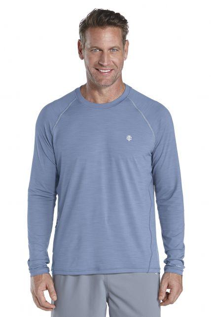 Coolibar---UV-Langarm-SporT-Shirt-Herren---blau