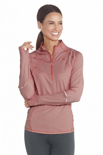 Coolibar---UV-Polo---Pullover---Pfirsich