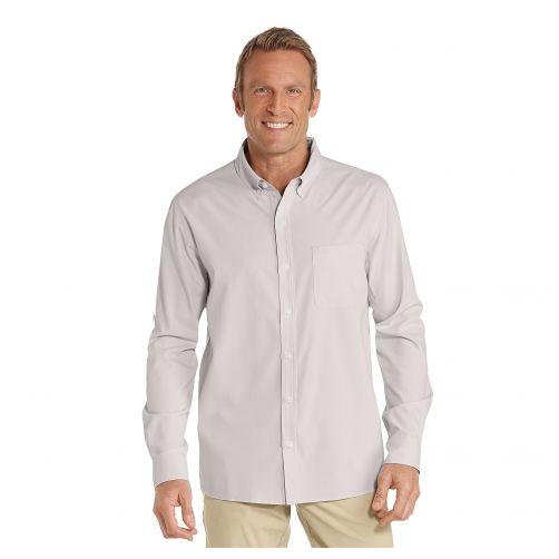 Coolibar---UV-Anzugshemd-für-Herren---Steingrau