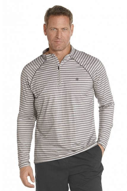 Coolibar---Golf-Pullover---Grau
