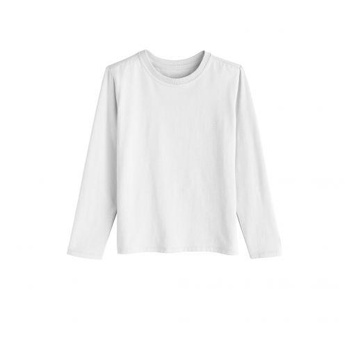 Coolibar---UV-Langarmshirt-für-Kinder---Weiß