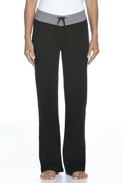 Coolibar---UPF50+-Frauen-Lakefront-Pants---Schwarz/grau