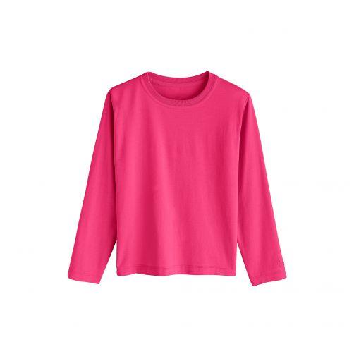 Coolibar---UV-Langarmshirt-für-Kinder---Magenta