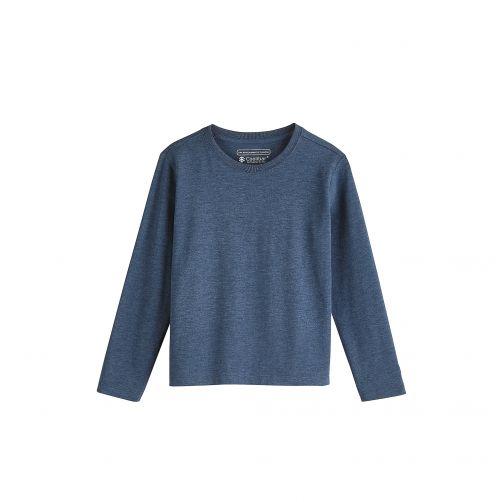 Coolibar---UV-Langarmshirt-für-Kinder---Meeresblau