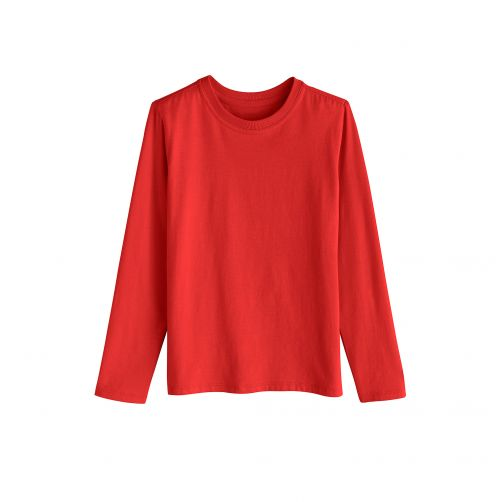 Coolibar---UV-Langarmshirt-für-Kinder---Tropisch-Rot