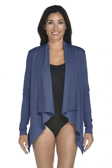 Coolibar---UV-Jacke-Damen---Dunkelblau