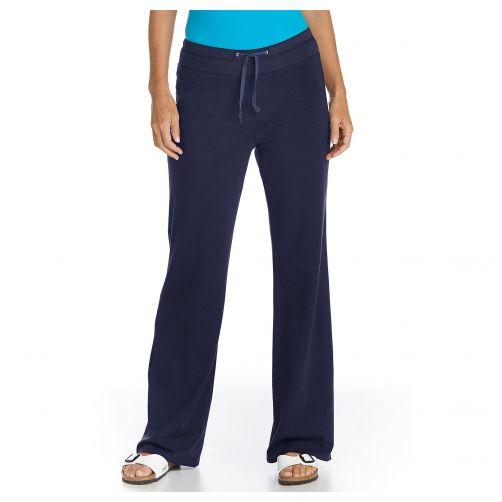 Coolibar---UV-Strandhose-Damen---dunkelblau