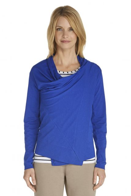 Coolibar---UV-Damenjacke---Kobalt-blau