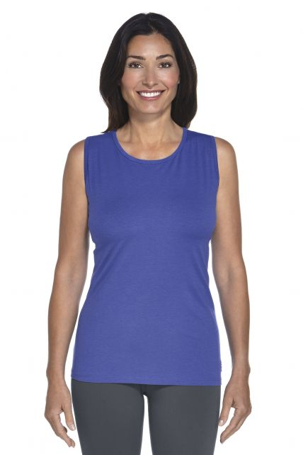 Coolibar---UV-Basic-Top-Damen---Empire-blau