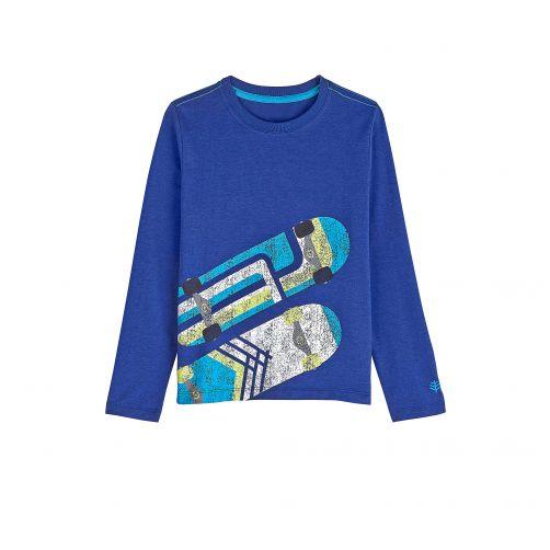 Coolibar---UV-Langarmshirt-für-Kinder---Marineblau