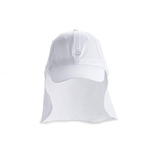 Coolibar---UV-Schutz-Kappe-Herren---Weiß