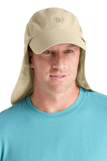 Coolibar---UV-Schutz-Fischermütze-Herren---Tan/-Dark-khaki