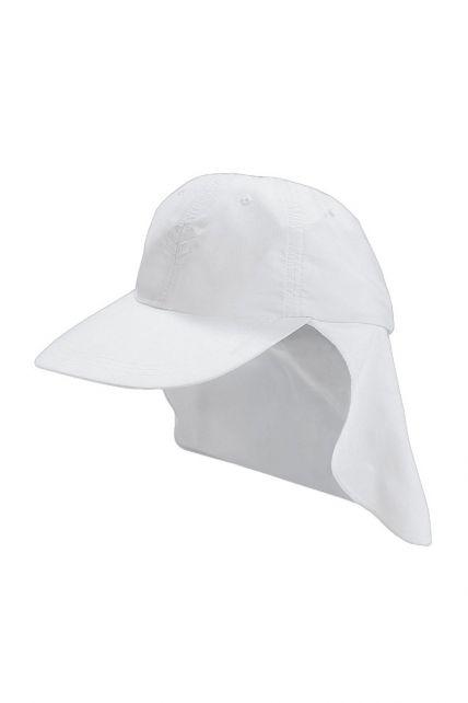 Coolibar---UV-Schutz-Sport-Sonnenhut-für-Kinder---Weiß