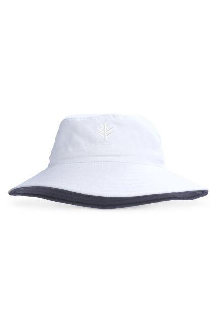 Coolibar---UV-Bucket-Hut-für-Kinder---Weiß-/-Grau