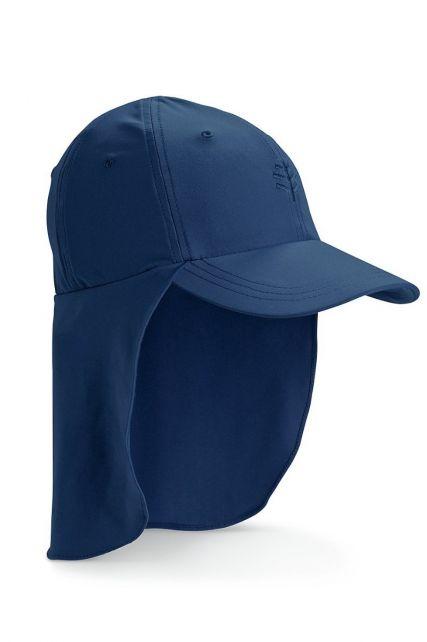 Coolibar---UV-Sonnenkappe-mit-Nackenschutz-für-Kinder---Marineblau